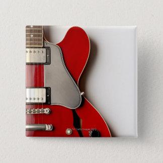 Electric Guitar 12 15 Cm Square Badge