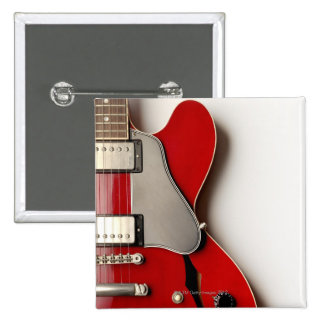 Electric Guitar 12 15 Cm Square Badge