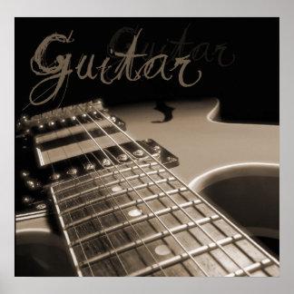 Electric Guitar 2 - Brown Posters