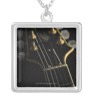 Electric Guitar 8 Silver Plated Necklace