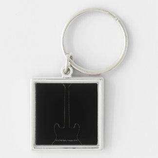 Electric Guitar 9 Key Ring