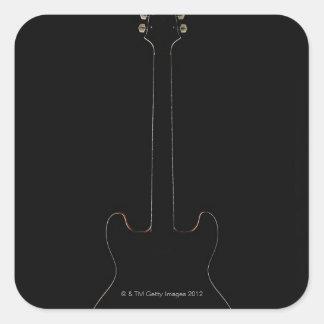 Electric Guitar 9 Square Sticker