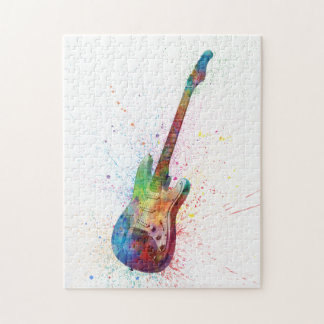 Electric Guitar Abstract Watercolor Puzzle