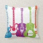 Electric Guitar & Acoustic Guitar Retro Punk Pillo Pillows