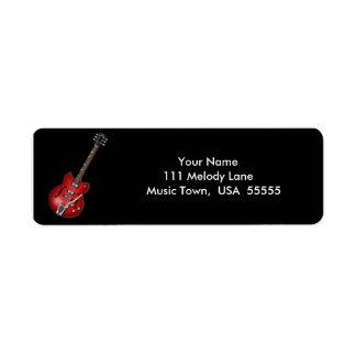 Electric Guitar Address Label