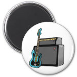 electric guitar bass and amp 6 cm round magnet