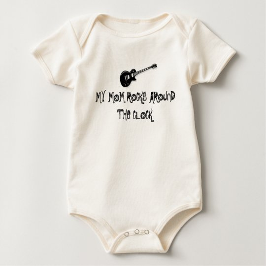electric_guitar_black, MY MOM ROCKS AROUND THE ... Baby Bodysuit