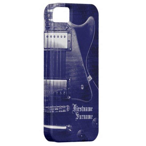 Electric Guitar Blue Metallic Custom iPhone 5 Case