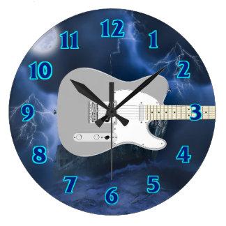 Electric Guitar Blue Wallclock