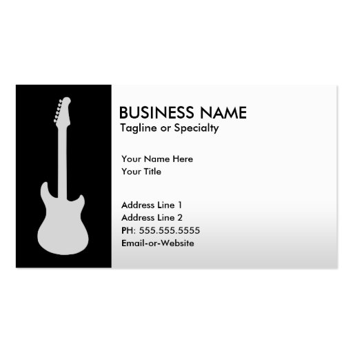 Create your own guitarist business cards electric guitar business card templates reheart Images