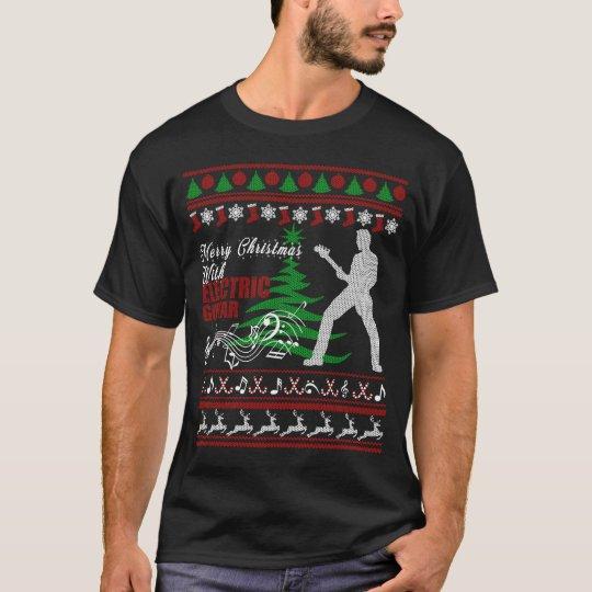 Electric Guitar Christmas Shirt