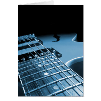 Electric Guitar Close Up - Blue Card