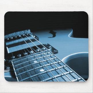 Electric Guitar Close Up - Blue Mouse Pad