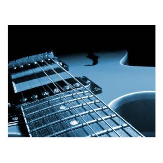 Electric Guitar Close Up - Blue Postcard