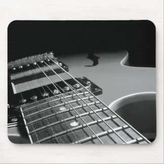 Electric Guitar Close Up - Grey B&W Mouse Mat