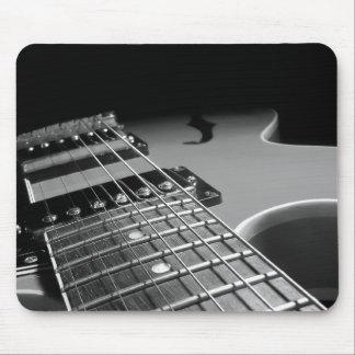 Electric Guitar Close Up - Grey B W Mousepads