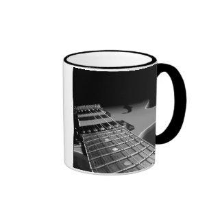 Electric Guitar Close Up - Grey B&W Mugs