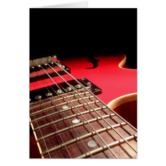 Electric Guitar Close Up - Original Red Greeting Card