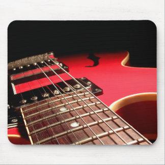Electric Guitar Close Up - Original Red Mouse Pad