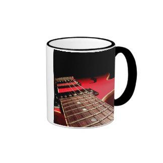 Electric Guitar Close Up - Original Red Coffee Mugs