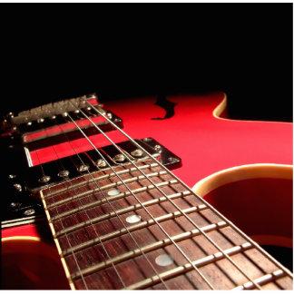 Electric Guitar Close Up - Original Red Photo Cutouts