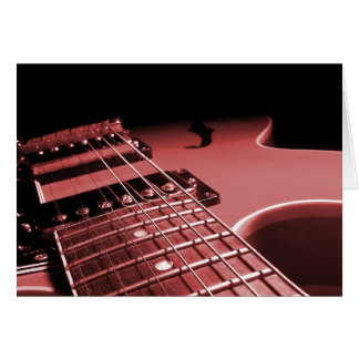 Electric Guitar Close Up Photo 6 String- Red Card