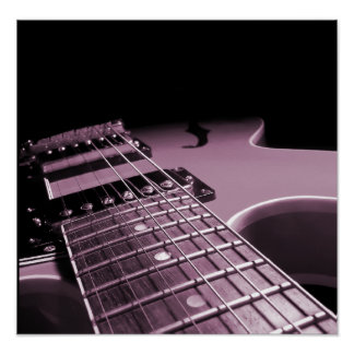 Electric Guitar Close Up -  Soft Pink Posters