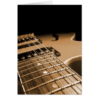 Electric Guitar Close Up - Spicy Orange Greeting Cards