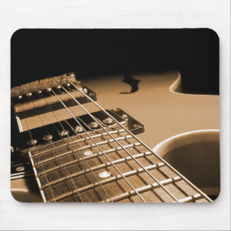 Electric Guitar Close Up - Spicy Orange Mouse Pad