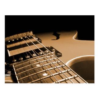 Electric Guitar Close Up - Spicy Orange Postcard