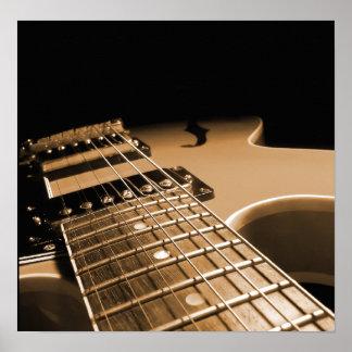 Electric Guitar Close Up - Spicy Orange Print