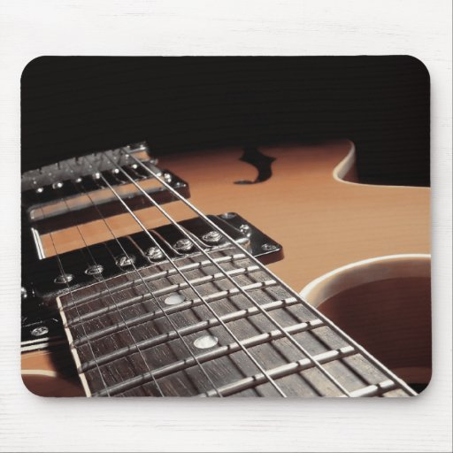 Electric Guitar Close Up - Vintage Brown Mousepads