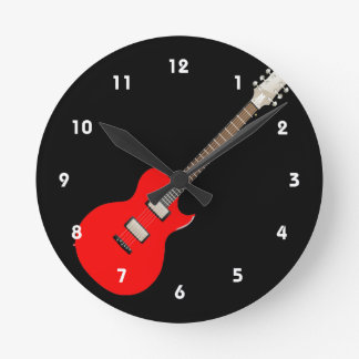 electric guitar copy.png wallclock