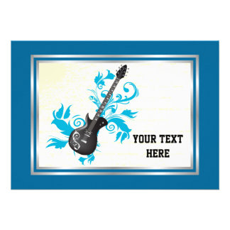 Electric guitar custom music personalized announcement