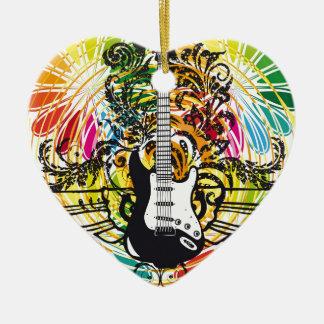 Electric Guitar design Christmas Ornament