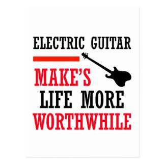 electric guitar design post cards