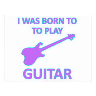 Electric Guitar Designs Post Cards