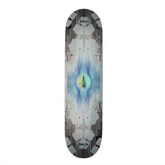 Electric Guitar Flames 19.7 Cm Skateboard Deck