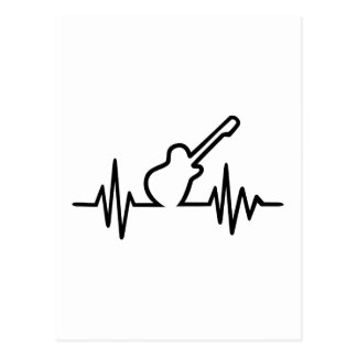 Electric guitar frequency postcards