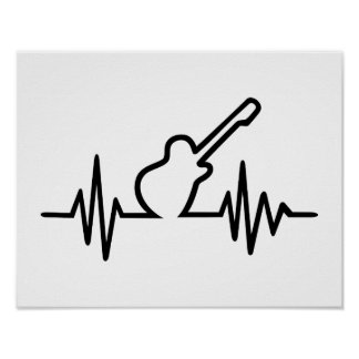 Electric guitar frequency posters