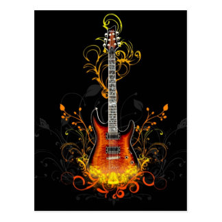 Electric Guitar Graphic Postcard