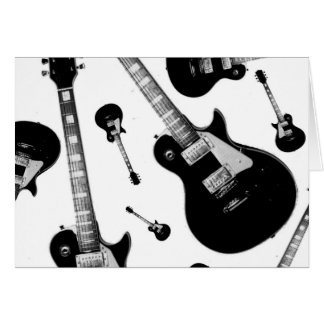 Electric Guitar Greeting Card