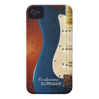 Electric Guitar Grunge Custom Name iPhone 4 Case