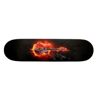 ELECTRIC GUITAR, HIGHT DEFINITION SKATE BOARD DECK