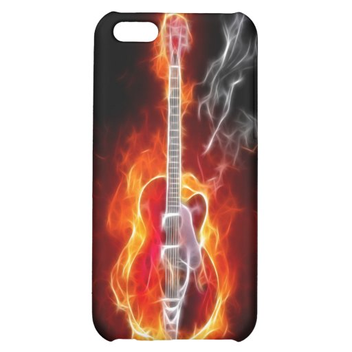 Electric Guitar in Flames iPhone 4 Case