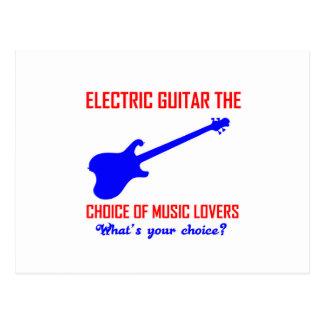 electric guitar  instrument design postcard