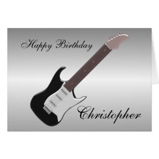 Electric Guitar Just Add Name Birthday Card