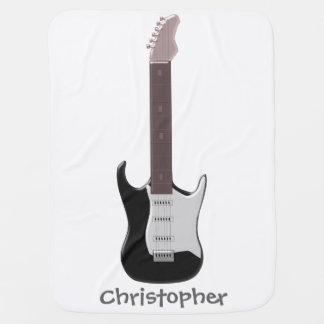 Electric Guitar Just Add Name Buggy Blanket