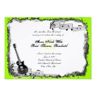 Electric Guitar Lime Music Wedding Invitation