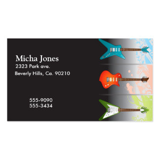 Electric Guitar Lovers Dream Business Card Templates